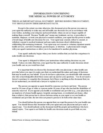 Free Medical Power Of Attorney Texas Form Adobe Pdf Word