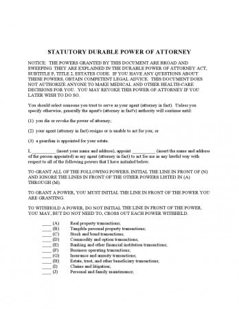 Free Durable Power Of Attorney Texas Form Basic Adobe Pdf Word